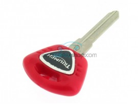 Triumph motorbike key - Red - Key blade ZD24R (groove left) - after market product